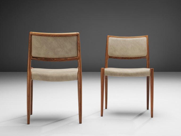 Niels OttoMøller Set of Six Dining Chairs Model 80 in Teak For Sale 1