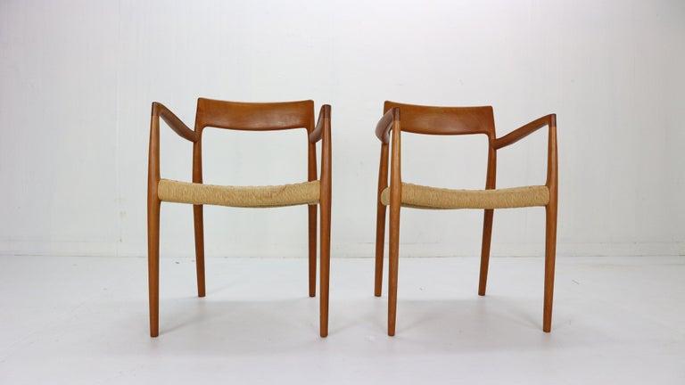 Scandinavian Modern Niels Otto Møller Set of Two Armchairs
