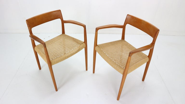 Mid-20th Century Niels Otto Møller Set of Two Armchairs