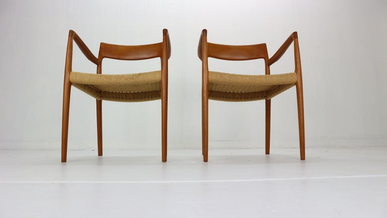 Papercord Niels Otto Møller Set of Two Armchairs