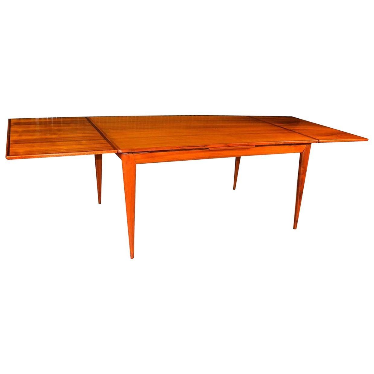Niels Otto Møller Danish Extendable Teak Dining Table Model 254