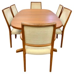 Niels Otto Moller for JL Moller Danish Modern Dining Room Set Table & 6 Chairs
