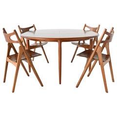 Niels Otto Moller Model 15 Extendable Dining Table Teak, Denmark, 1960