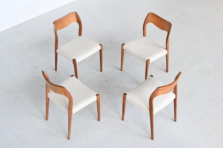 Danish Niels Otto Moller Model 71 Dining Chairs, Denmark, 1951