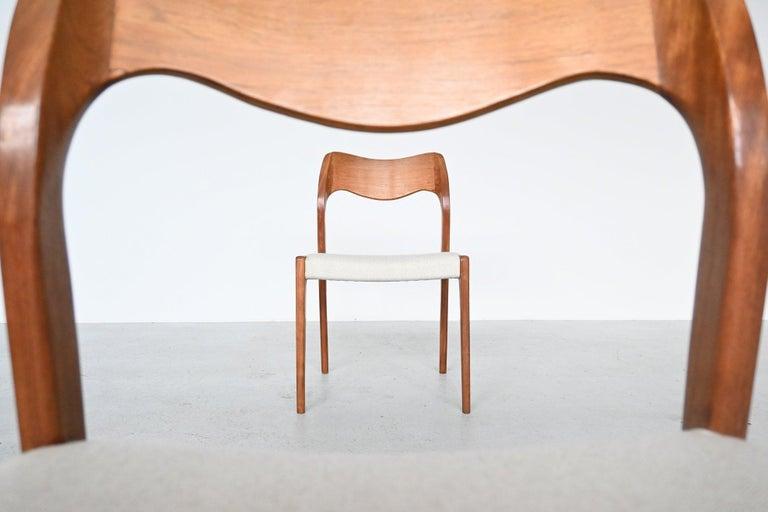 Niels Otto Moller Model 71 Dining Chairs, Denmark, 1951 In Good Condition In Etten-Leur, NL