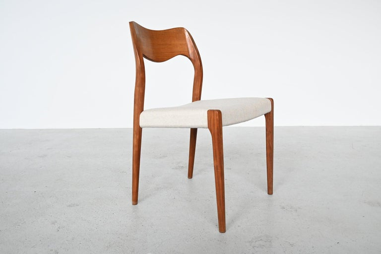 Mid-20th Century Niels Otto Moller Model 71 Dining Chairs, Denmark, 1951