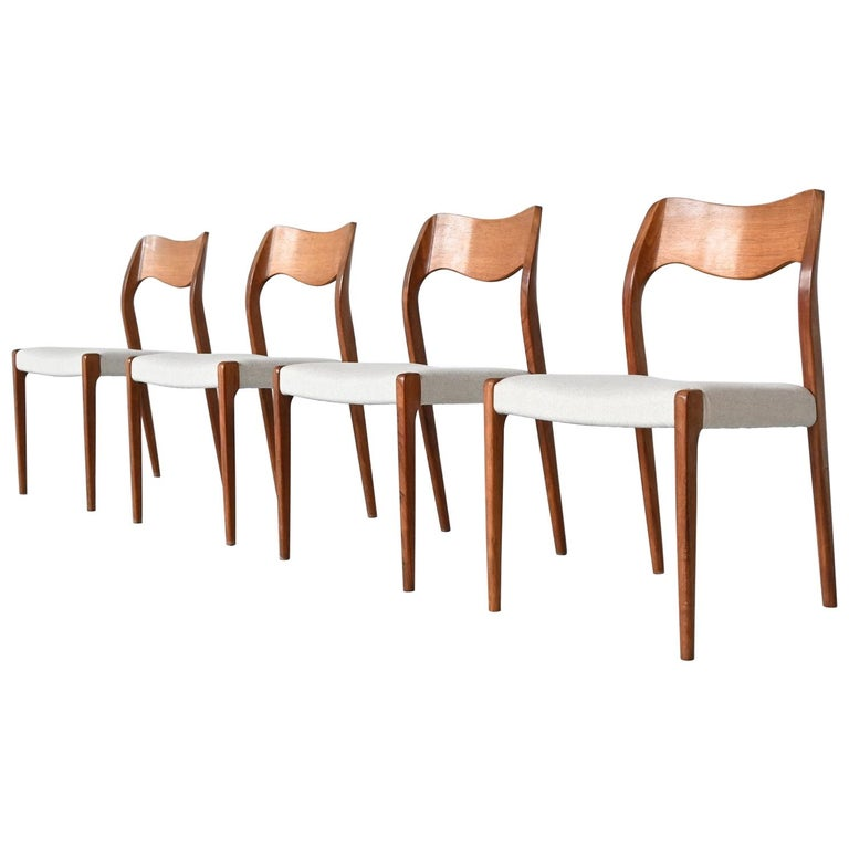 Niels Otto Moller Model 71 Dining Chairs, Denmark, 1951