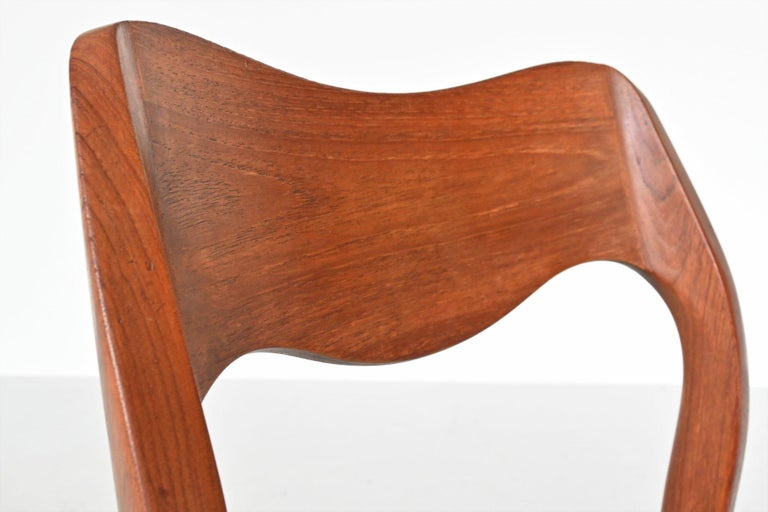 Niels Otto Moller Model 71 Teak Paper Cord Dining Chairs, Denmark, 1960 4