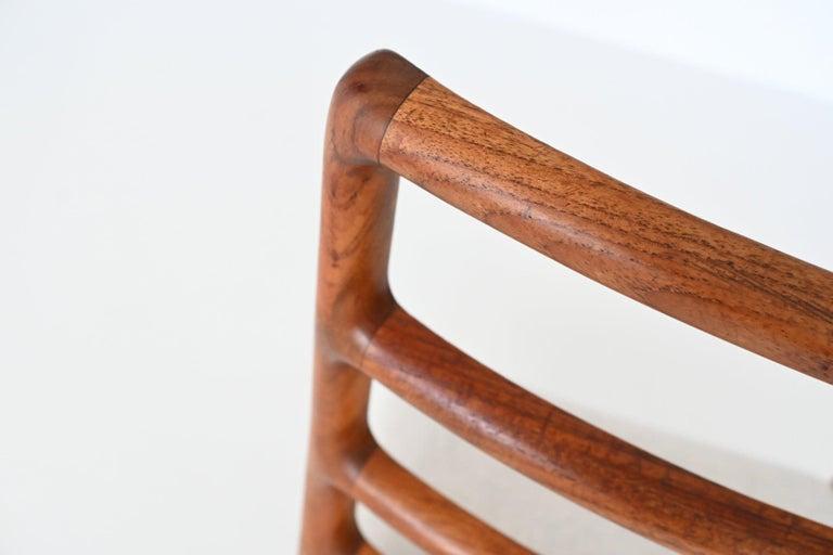 Niels Otto Moller Model 82 Teak Dining Chairs J.L. Moller Mobelfabrik Denmark 19 For Sale 5