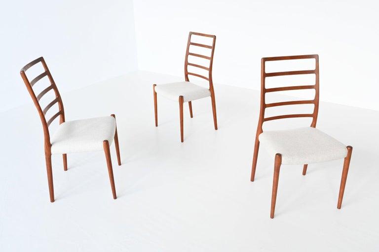 Danish Niels Otto Moller Model 82 Teak Dining Chairs J.L. Moller Mobelfabrik Denmark 19 For Sale