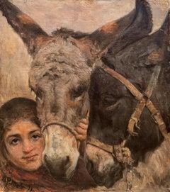 Old Friends   (Danish, Denmark, Animal, Rural, Genre, Donkey)