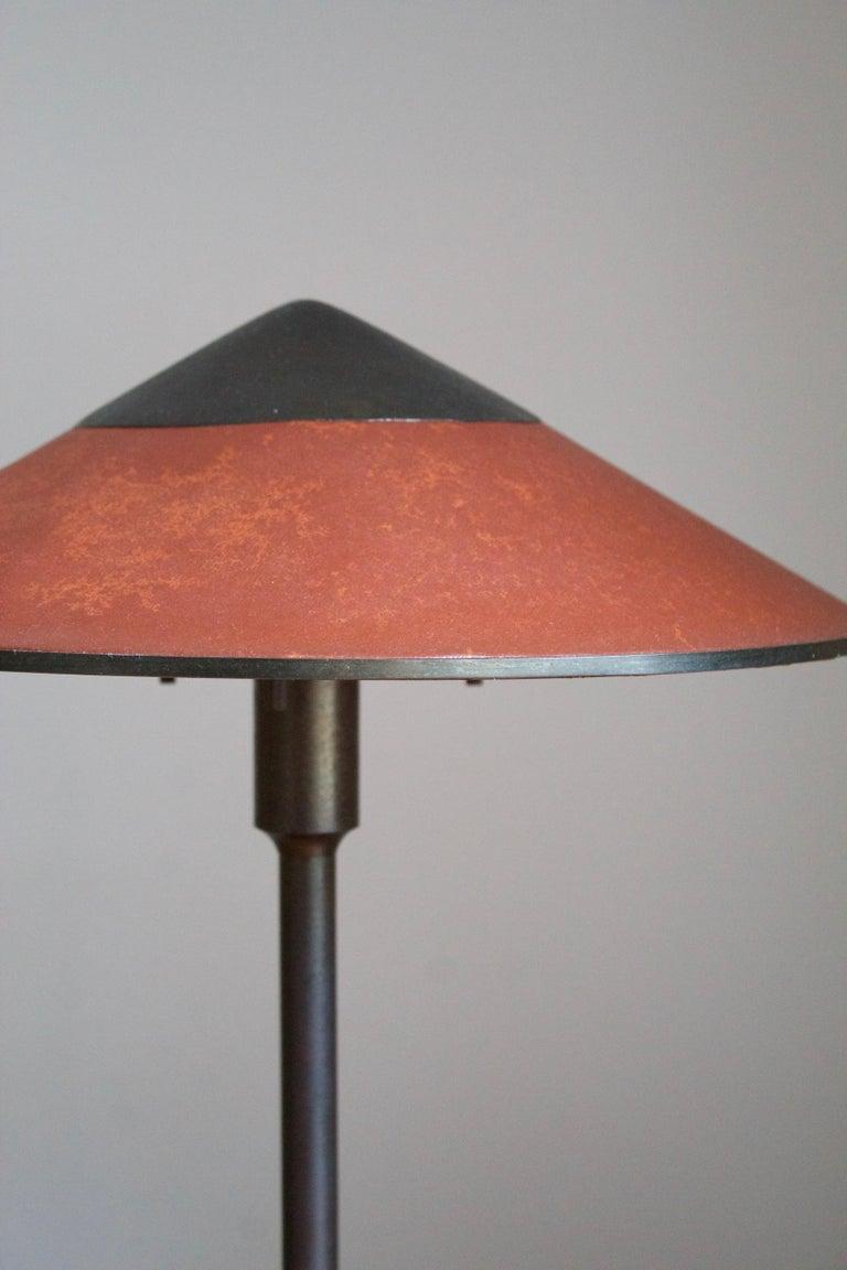 Scandinavian Modern Niels Rasmussen Thykier, Early Table Lamp, Brass, Waxed paper, Denmark, 1960s For Sale