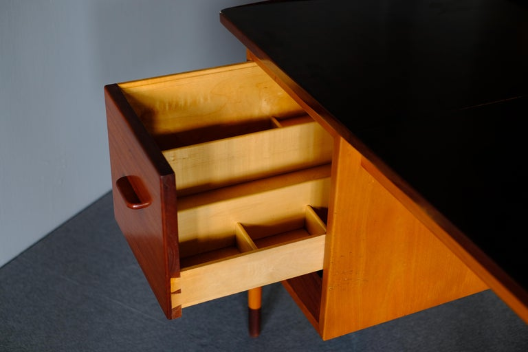 20th Century Niels Vodder, Beech and Mahogany Dressing Table For Sale