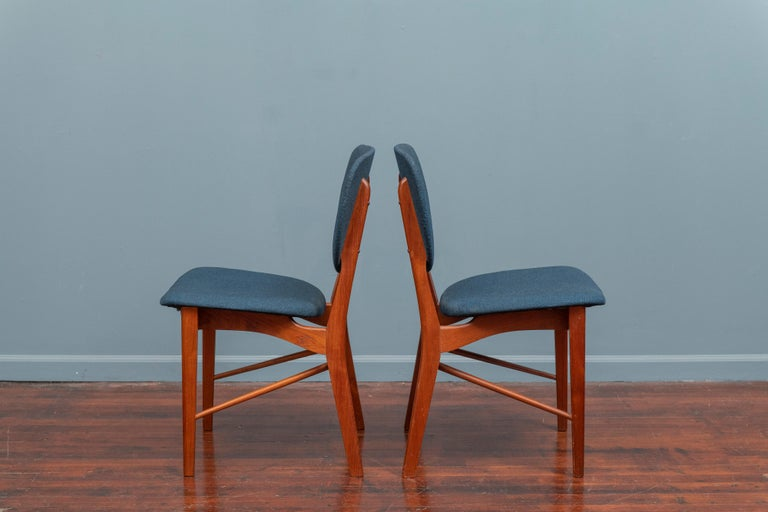 Danish P. Vodder Dining Chairs Model PV55 for Niels Vodder For Sale