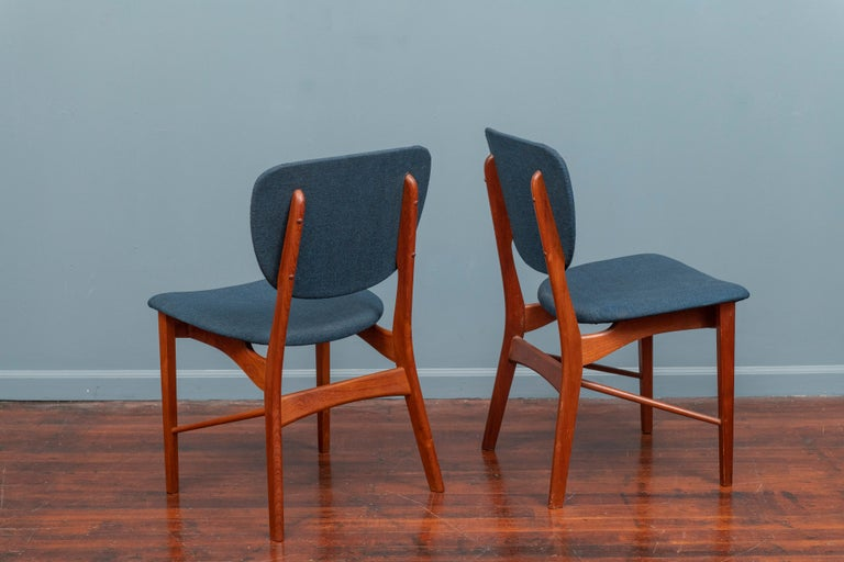 P. Vodder Dining Chairs Model PV55 for Niels Vodder In Good Condition For Sale In San Francisco, CA