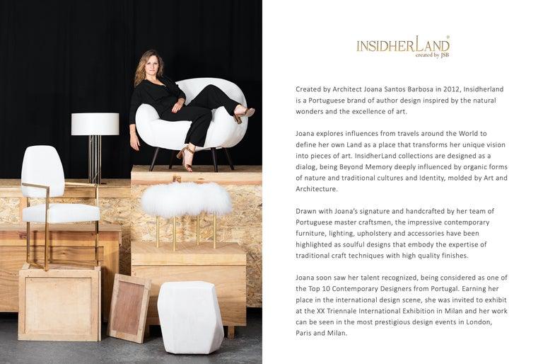 Niemeyer II Armchair and Stool, Bouclé, InsidherLand by Joana Santos Barbosa For Sale 5
