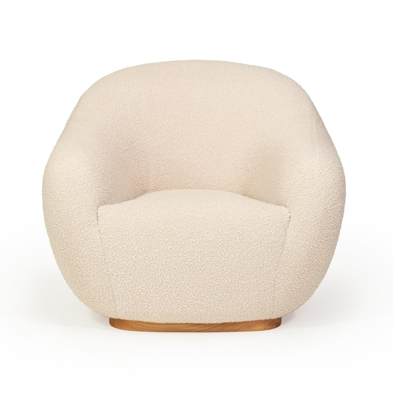 Niemeyer II Armchair and Stool, Bouclé, InsidherLand by Joana Santos Barbosa In New Condition For Sale In Porto, Rio Tinto