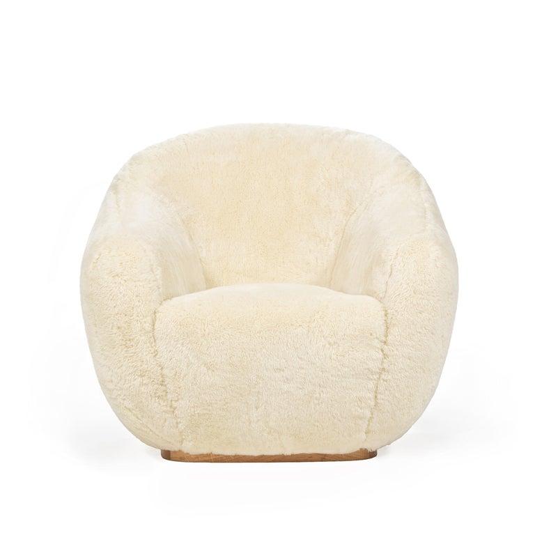 Niemeyer II Armchair and Stool, Fur, InsidherLand by Joana Santos Barbosa For Sale 1