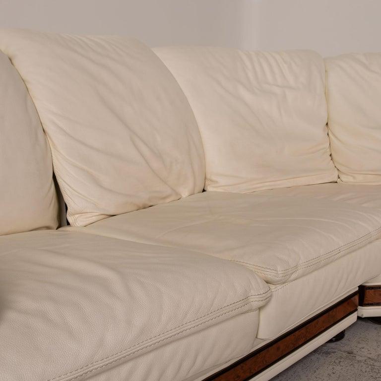 Modern Nieri Corniche Leather Sofa Cream Corner Sofa Couch For Sale