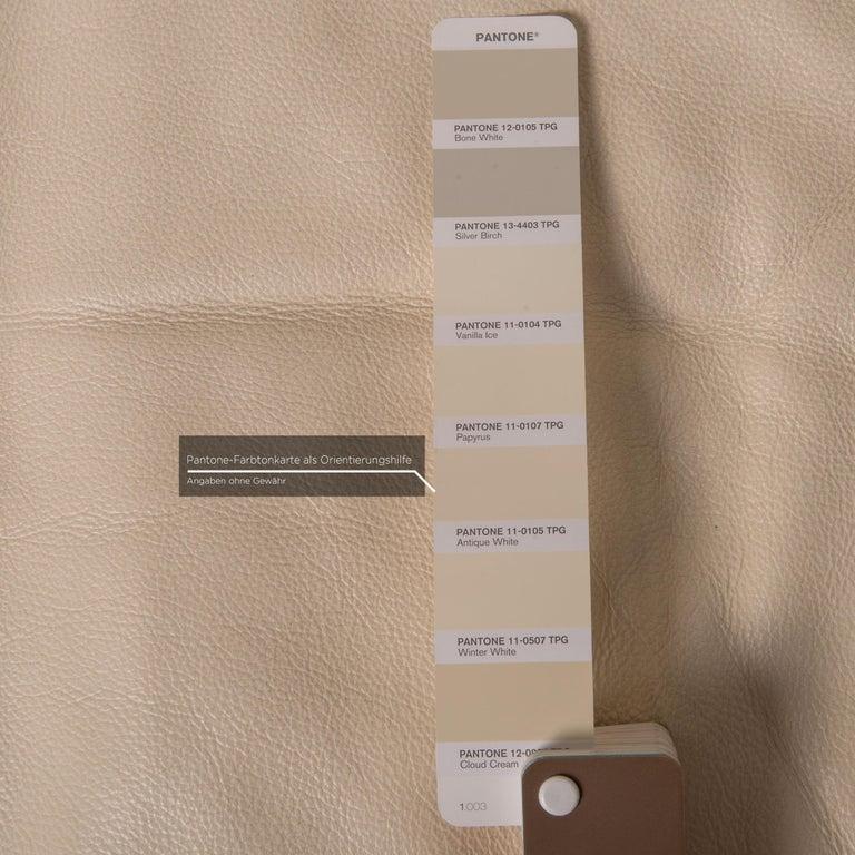 Nieri Corniche Leather Sofa Cream Corner Sofa Couch For Sale 1