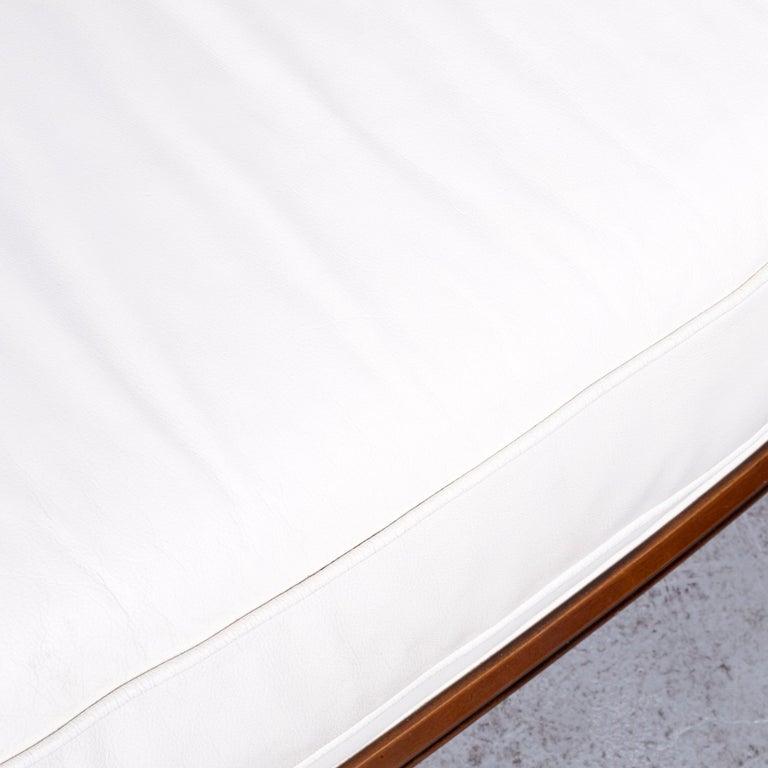 Nieri Designer Leather Sofa Crème Three-Seat Couch 1