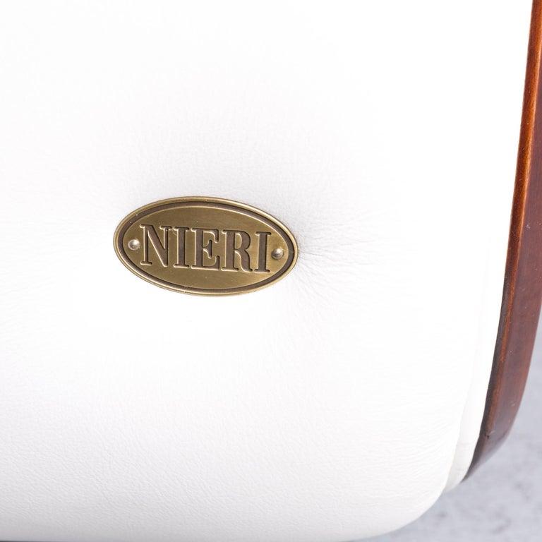 Nieri Designer Leather Sofa Crème Three-Seat Couch 2