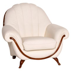 Nieri Leather Armchair Cream