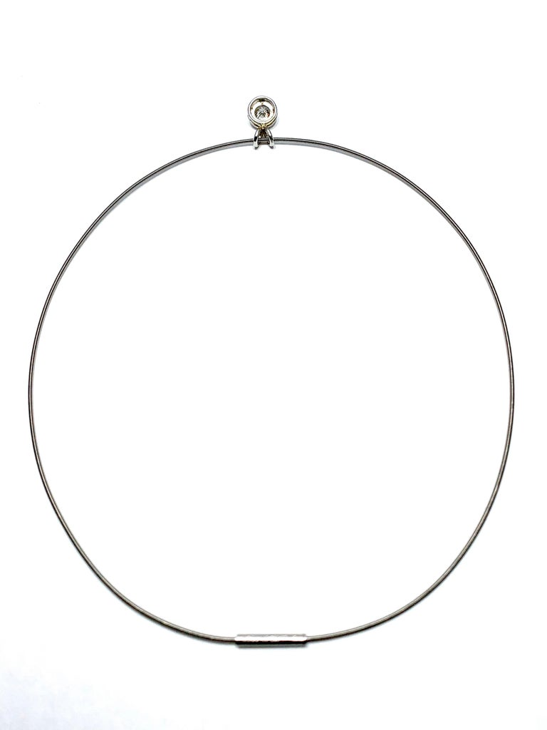 Women's or Men's Niessing 1.15 Carat Round Diamond Contemporary Platinum Necklace For Sale
