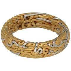 Niessing Labyrinth Gold Platinum Band Ring