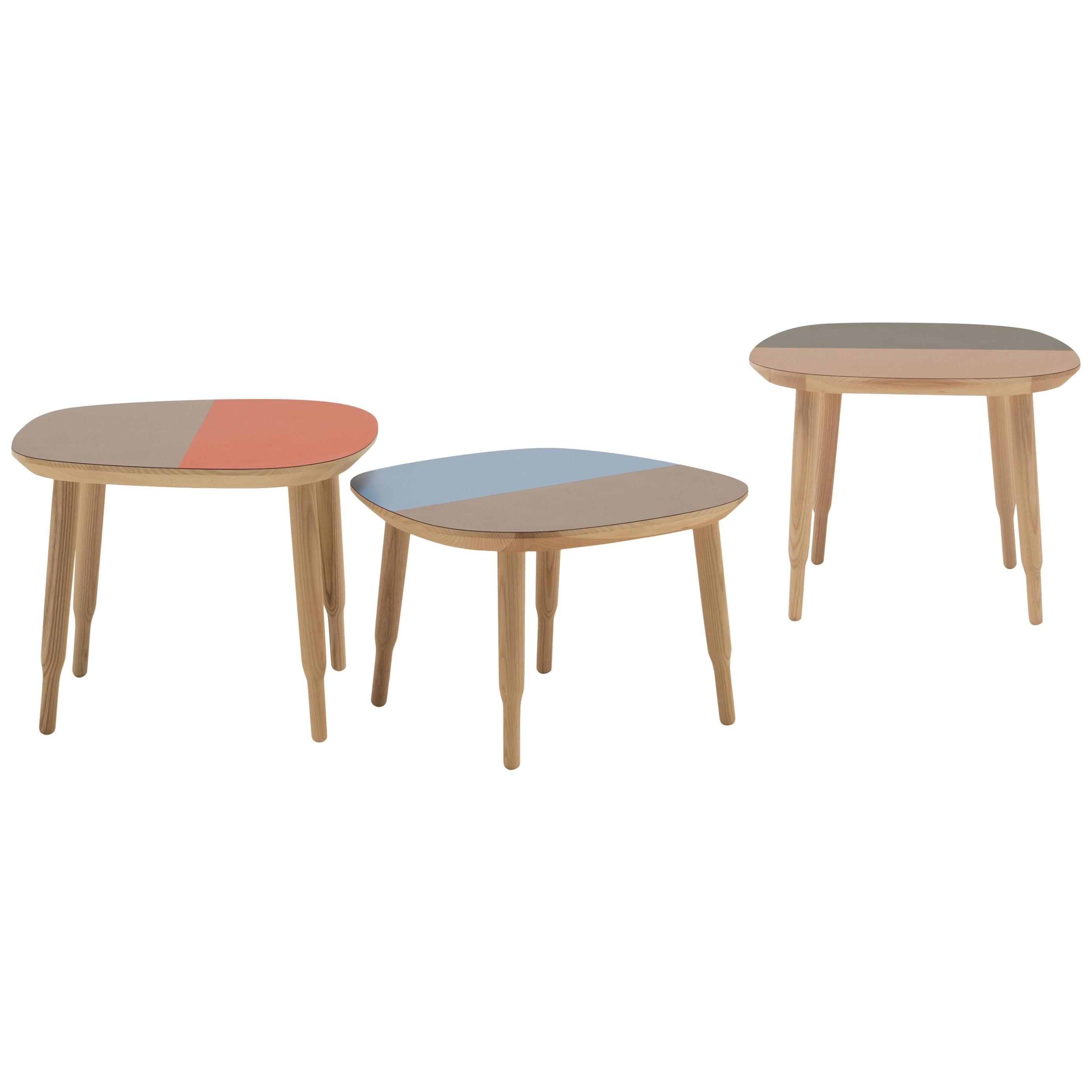 Bump -  colourful ashwood occasional table, designed by Nigel Coates