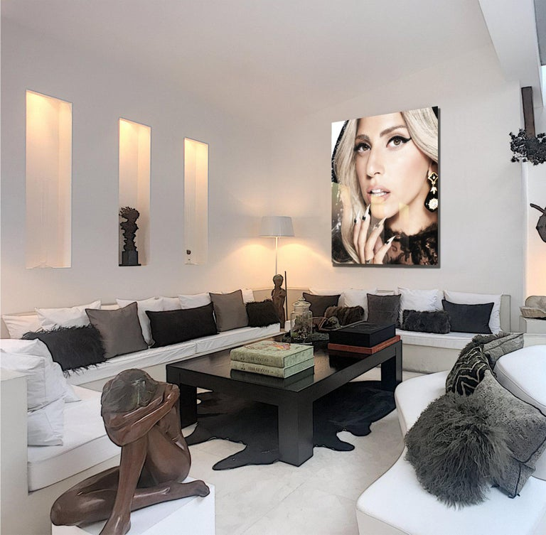 art celebrity portrait photography of Lady Gaga by Nigel Parry For Sale 1