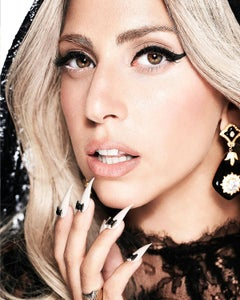 art celebrity portrait photography of Lady Gaga by Nigel Parry