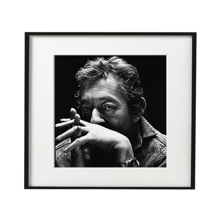Serge Gainsbourg -  black & white portrait of the French icon and musician.
