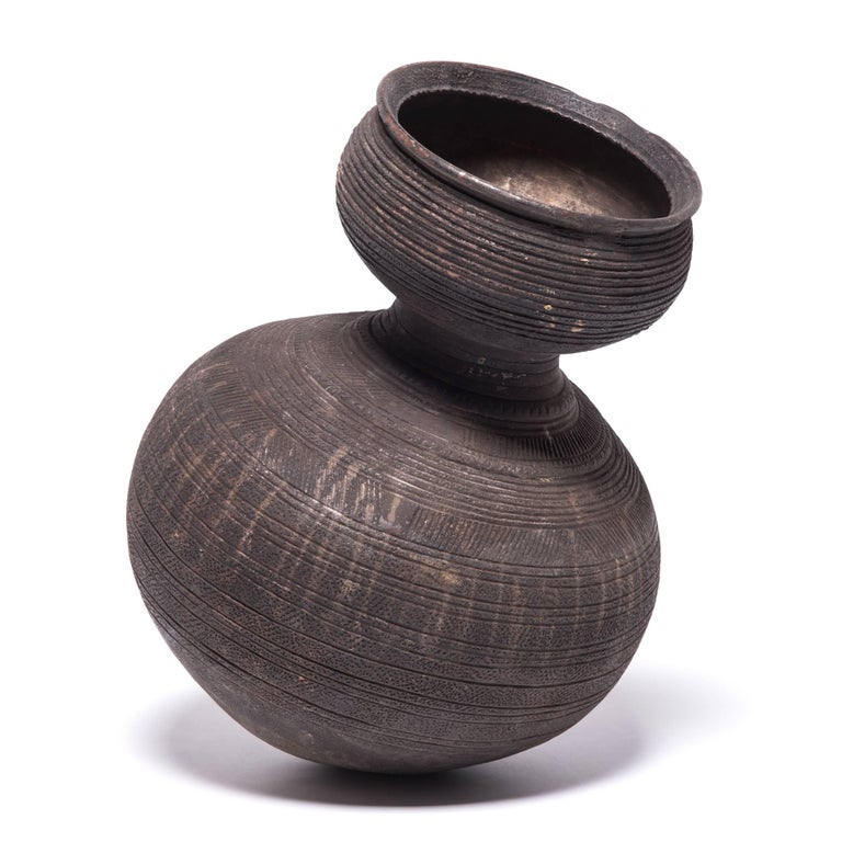 20th Century Nigerian Nupe Gourd Water Vessel For Sale