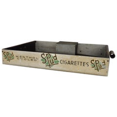 Night Club History Piece Strolling Cigar Cigarette Lipstick Matches Serving Tray