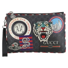 Night Courrier Pouch GG Coated Canvas with Applique