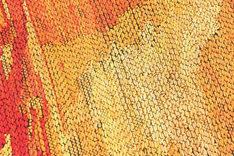 "Scandinavian Modern ""Night Mirror"" by Brita Molin Vintage Scandinavian Carpet. Size: 9' x 13' 7"