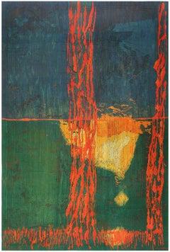 """Night Mirror"" by Brita Molin Vintage Scandinavian Carpet. Size: 9' x 13' 7"""
