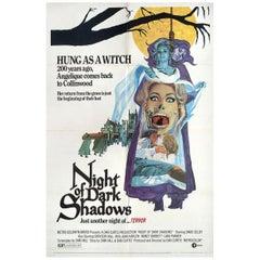 """Night of Dark Shadows"" 1971 U.S. One Sheet Film Poster"