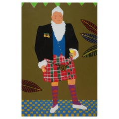 'Night on the Tiles' Portrait Painting by Alan Fears Pop Art Kilt, Scotland