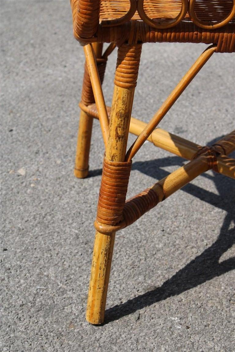 Mid-20th Century Night Stand Bamboo Mid-Century Italian Design 1950s  For Sale