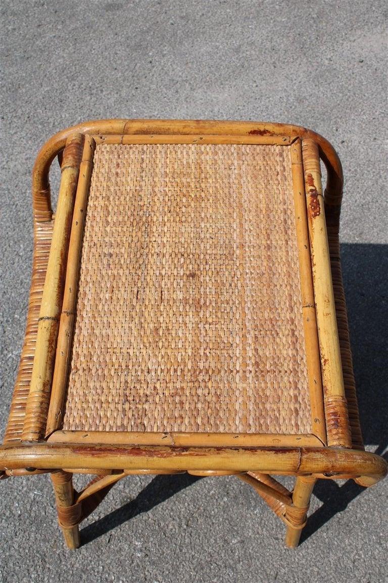 Night Stand Bamboo Mid-Century Italian Design 1950s  For Sale 2