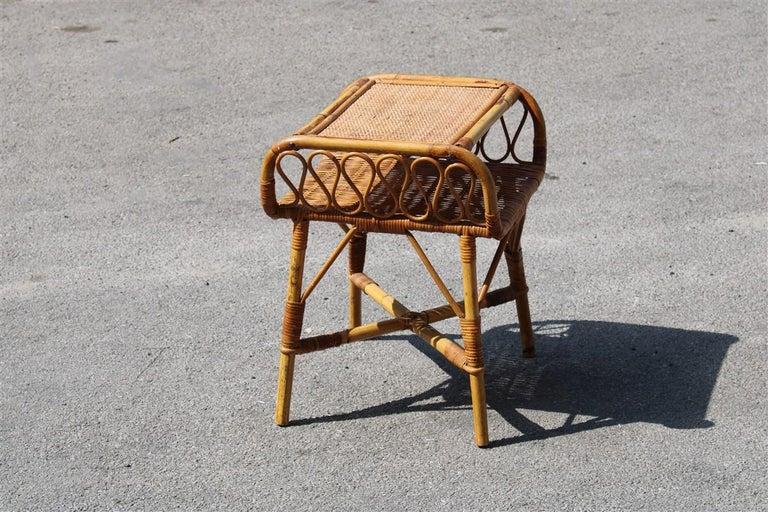 Night Stand Bamboo Mid-Century Italian Design 1950s  For Sale 3