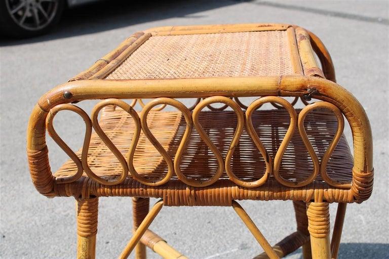 Night Stand Bamboo Mid-Century Italian Design 1950s  For Sale 4