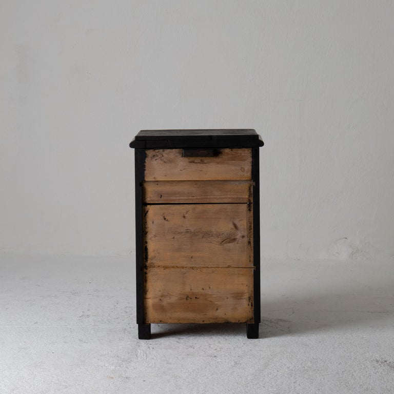 Nightstand Swedish Black 19th Century Sweden For Sale 1