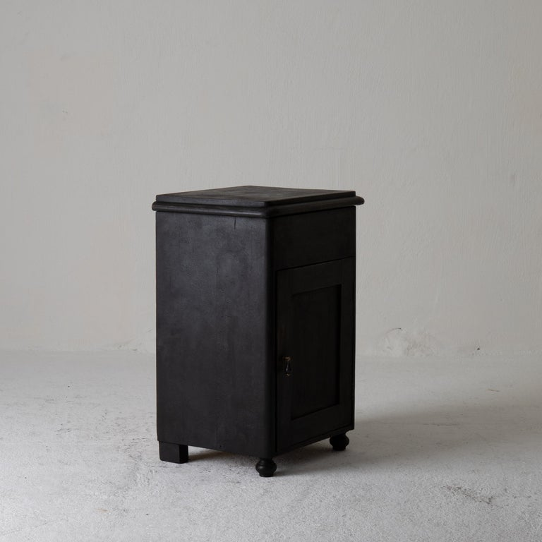 Nightstand Swedish Black 19th Century Sweden For Sale 2