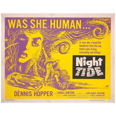 """Night Tide"" 1963 U.S. Half Sheet Film Poster"