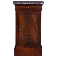 Nightstand Mahogany French with Marble Top