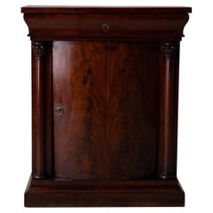 Nightstand Side Table Swedish Mahogany 19th Century Neoclassical Sweden