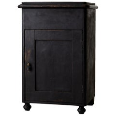 Nightstand Swedish Black 19th Century Sweden
